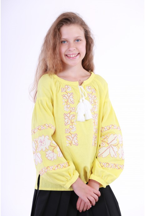 "Vyshyvanka for girls  ""Nevistochka""  yellow"