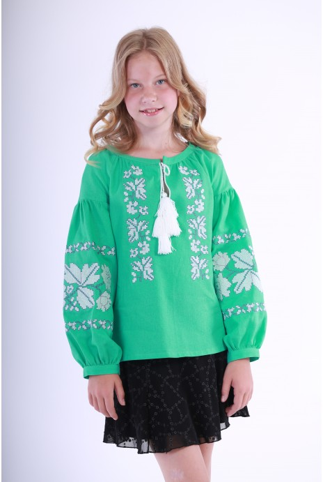 "Vyshyvanka for girls ""Nevistochka"" mint"