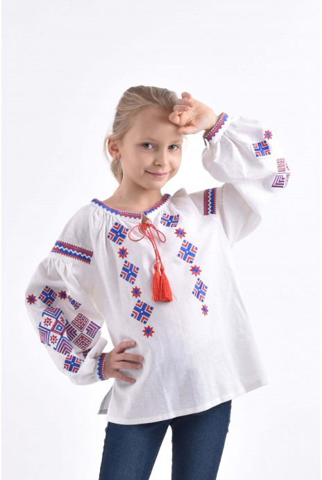 "Vyshyvanka for girls ""Romby kosach"""