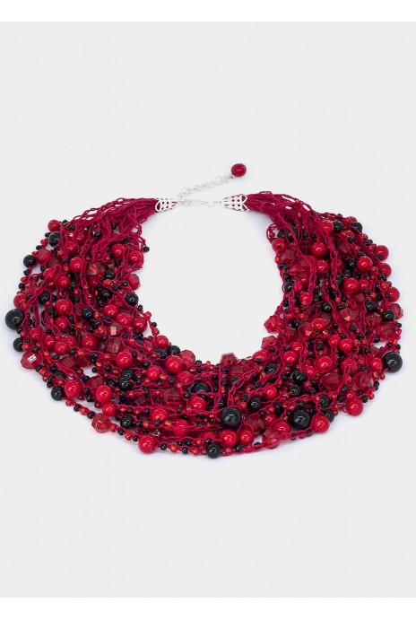 "Beads ""Barbaris"" red"