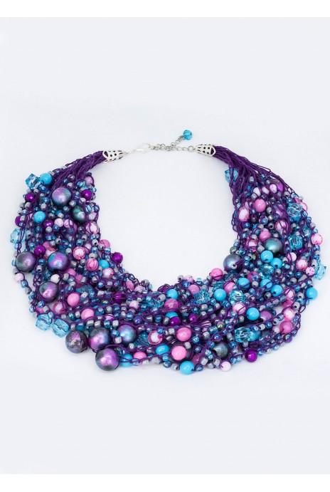 """Beads """"Ozhina"""" violet"""