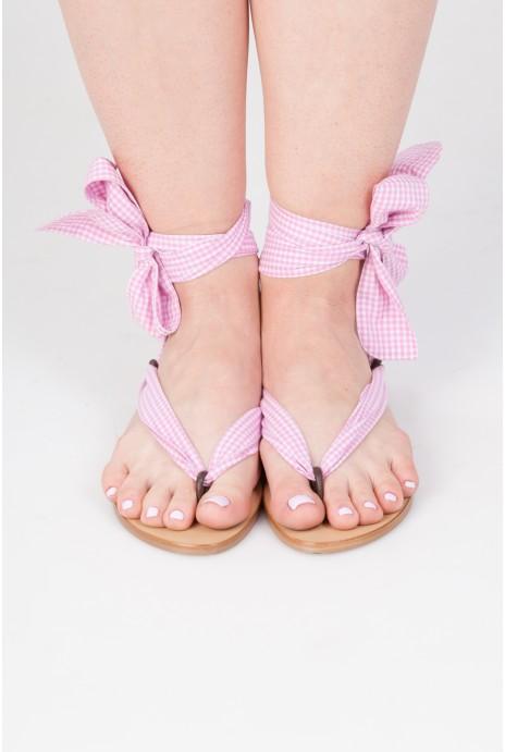 KAPTSI Pink cage pattern