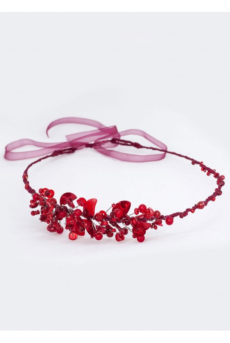 "Wreath ""Malva"" red"