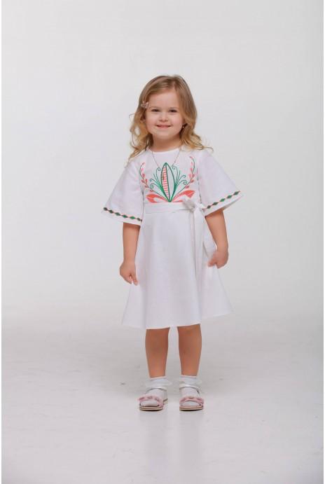 Детское платье вышиванка «Пробуждение» белое