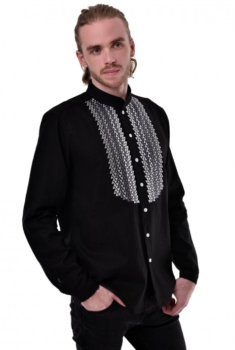 "Man's shirt ""Silens"" black"