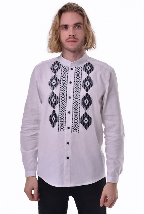 "Man's shirt ""Zvaga"" white"