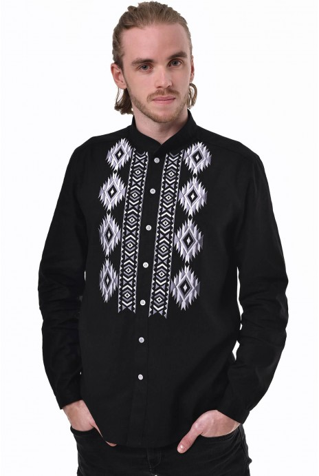 "Man's shirt ""Zvaga"" black"