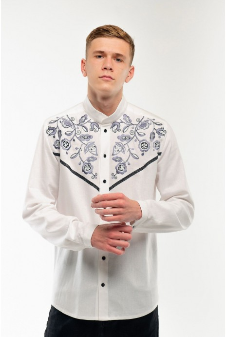 Embroidered shirt for men Znahidka white