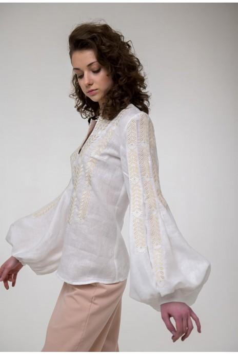 Вышитая блуза Струмивка белая