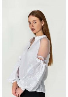 """Блуза вышита """"Марево"""" біла"""