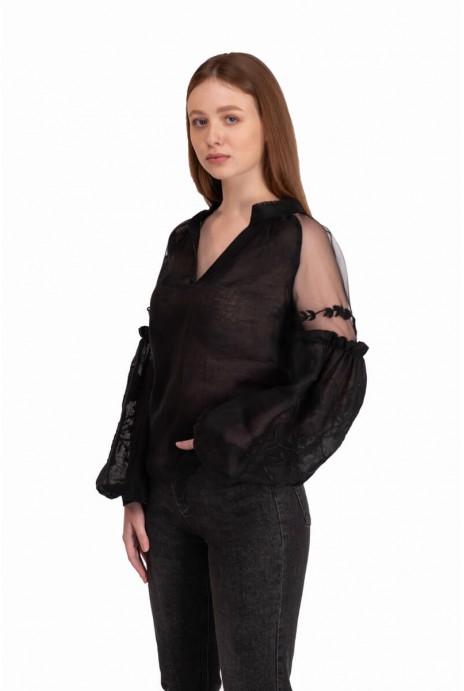 Вишита блуза Марево чорна