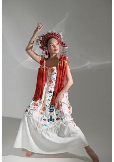 Embroidered dress Turiya