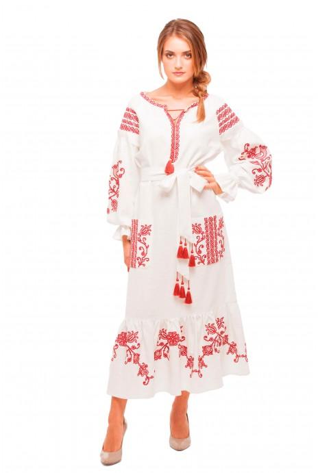 """Платье вышитое """"Вишневый сад"""""""