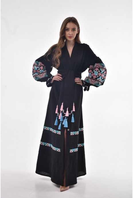 "Dress embroidered ""Dina"" East"