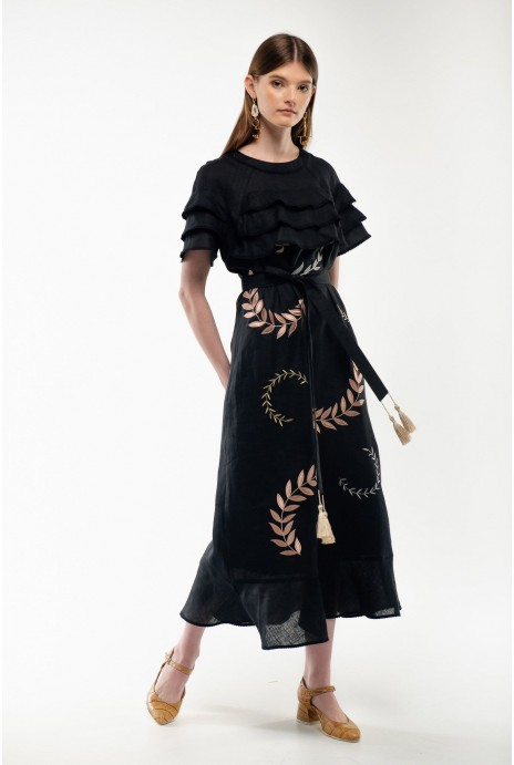 Embroidered dress Pannochka black