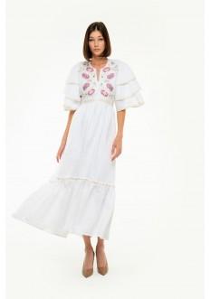 Вишита сукня Либідь біла
