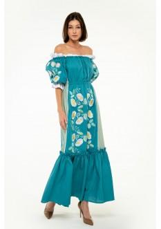 Вишита сукня Бережанка морська хвиля