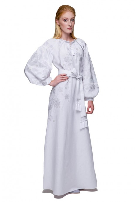 Embroidered dress Gromovytsya white