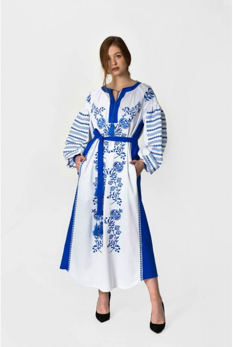 "Embroidery dress ""Kozachka"" white"
