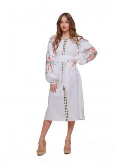 """Сукня вишиванка """"Пробудження"""" біла"""