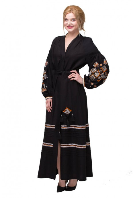 """Dress embroidered """"Romby Kosach"""" black"""