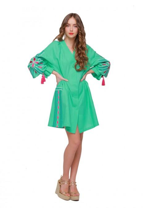 "Dress tunic vyshyvanka ""Shine"" mint"