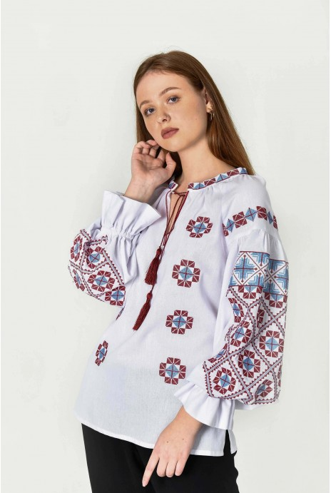 "Embroidery shirt  ""Zorya"" white"