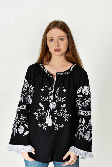 "Embroidery shirt ""Сhumatsʹkyy shlyakh"" black"
