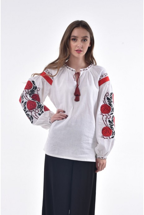 "Woman embroidery ""Dyka ruzha"" white"