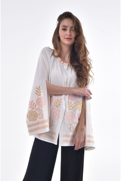 Blouse embroidered Knyajna milky