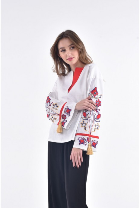 "Blouse embroidered ""Kvitucha dolina"" white"