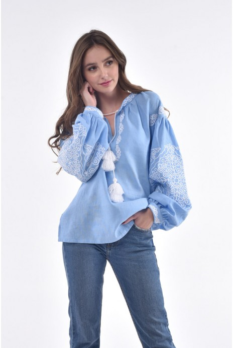 "Shirt ""Мorozets"" light blue"