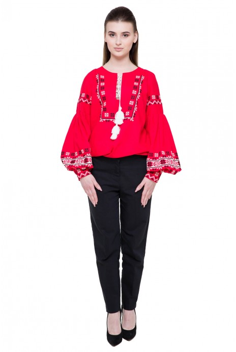 "Embroidered shirt ""Spadok"" red"
