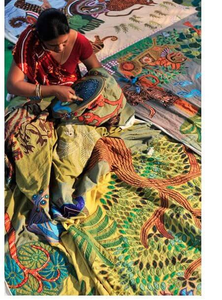 Вышивка в индийской одежде