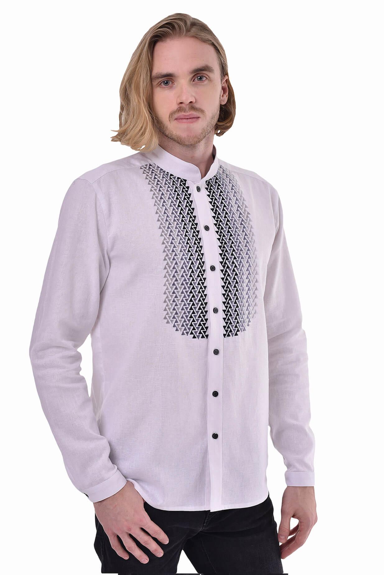 Чоловіча вишита сорочка «Шепіт» біла - 2KOLYORY 3896d5371e628
