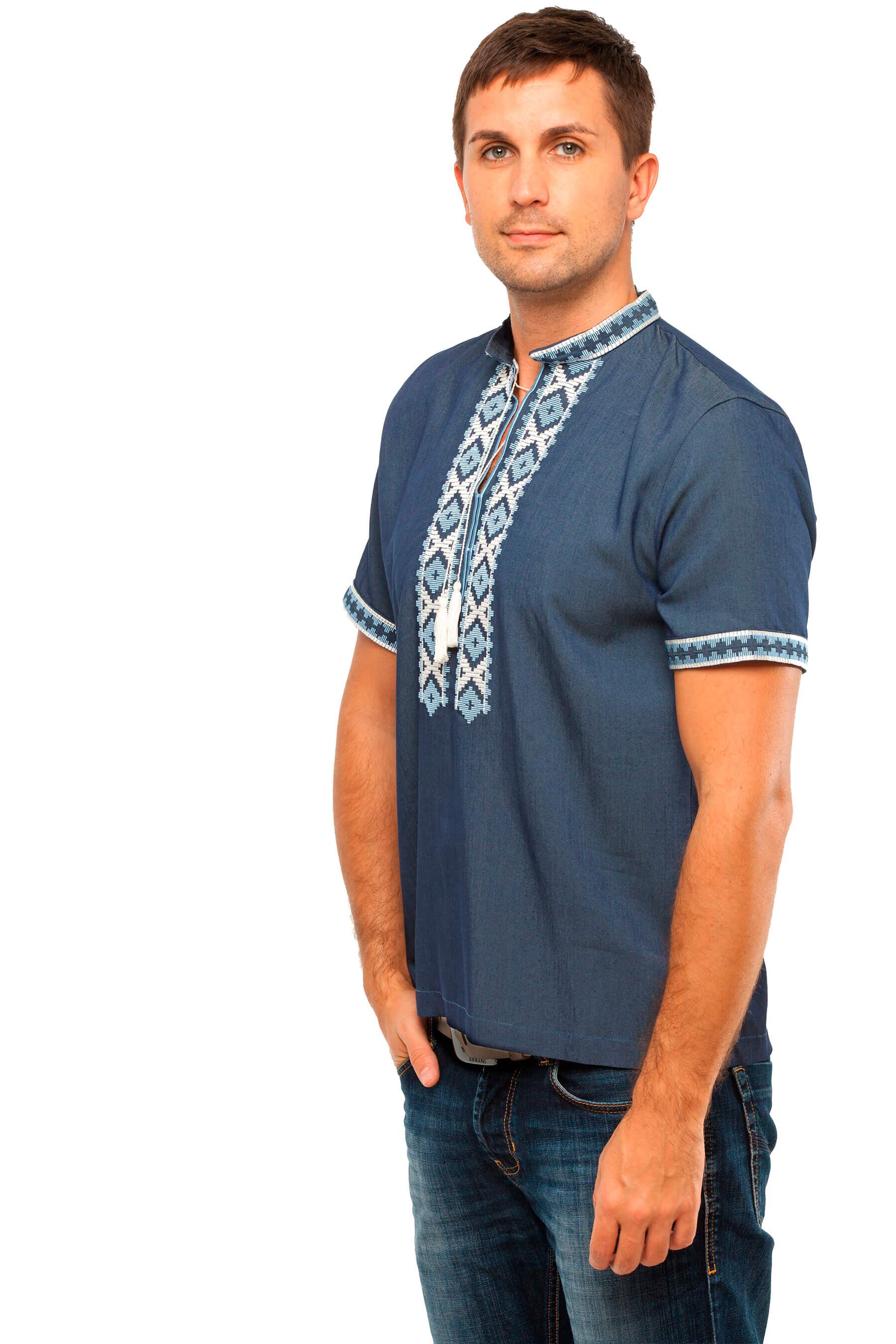 Чоловіча сорочка «Колодочка» із високоякісної тканини - 2KOLYORY c3a6493572541