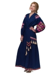 "Dress embroidered ""Barvogray"" navy"