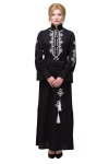"Dress embroidered ""Roksolyana"" black"