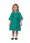 "Girl dress embroidered ""Vesnyanka"" sea wave"