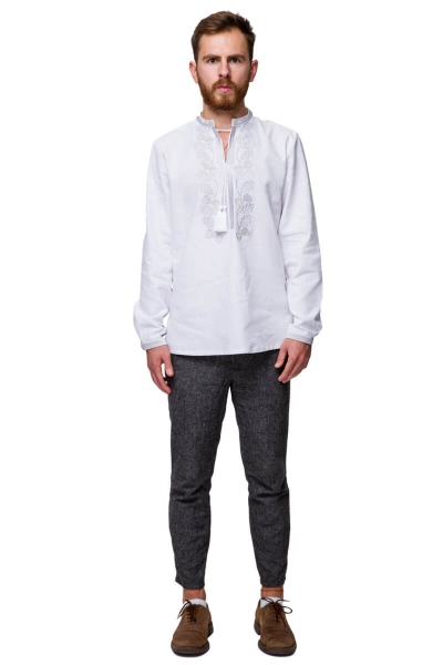 Embrodiered shirt Grim silver