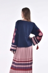 "Blouse embroidery ""Shipshina""  darkblue"