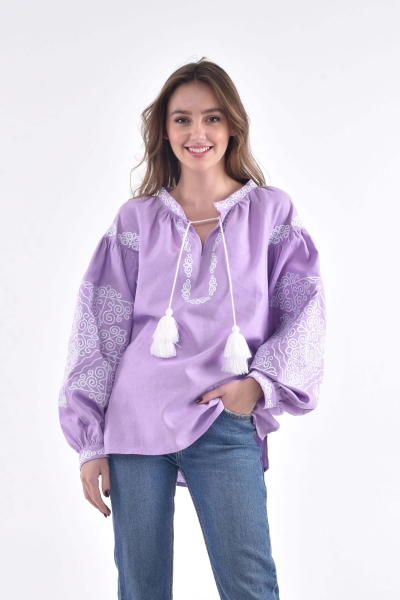 "Embroidered shirt  ""Мorozets"" lavender"