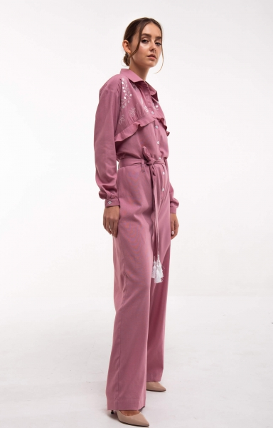 "Jumpsuit with embroidery ""Sutsvittya"" powder"