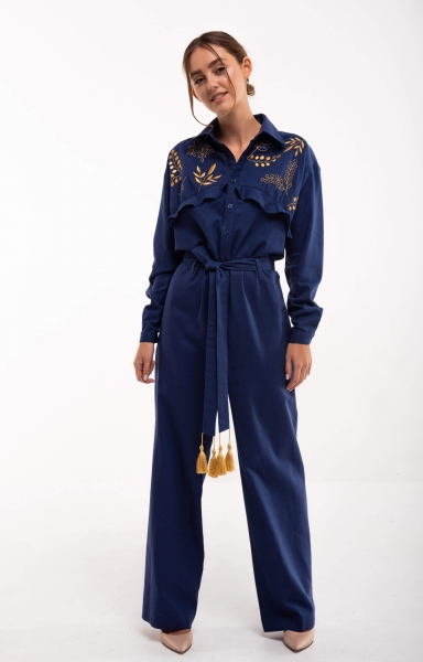 Jumpsuit with embroidery Sutsvittya dark blue