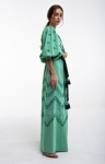 Embroidered dress Lelya green
