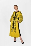 "Embroidery dress ""Kozachka"" ocher"