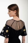 Embroidered dress Yagidka black
