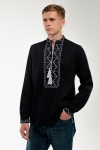 Embroidery for men black