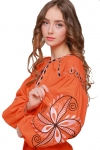 "Dress embroidered ""Awakening"" orange"